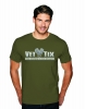 (No Branch) Vet Tix Military Green Short Sleeve Shirt with blank back