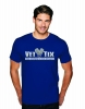 (No Branch) Vet Tix Cool Blue Short Sleeve Shirt with blank back