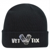 (No Branch) Vet Tix Embroidered 12in Black Beanie