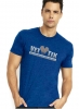 (No Branch) Vet Tix Heathered Royal Blue Short Sleeve Shirt with blank back