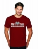 (No Branch) Vet Tix Cardinal Red Short Sleeve Shirt with blank back
