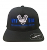 Vet Tix DELTA FITTED Cap - Black Cap with Royal Blue Vet Tix (No Branch)