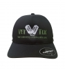 Vet Tix DELTA FITTED Cap - Black Cap with Olive Green Vet Tix (No Branch)