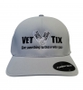 Vet Tix DELTA FITTED Cap - Silver Cap with Black Vet Tix (No Branch)