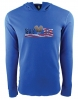 Unisex Vet Tix - FLAG Logo - Royal Blue - Long Sleeve Thermal Hoodie (No Branch)