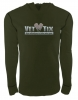 Unisex Vet Tix - Standard Logo - Military Green - Long Sleeve Thermal Hoodie (No Branch)