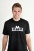 Marine Veteran (on back) Vet Tix Black Short Sleeve Shirt